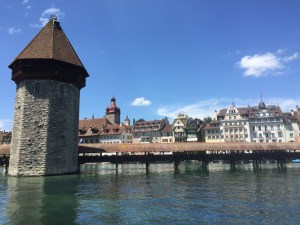 The Chapel Bridge in Lucerne
