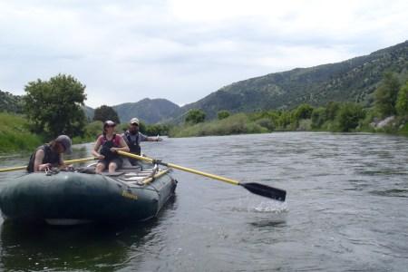 Boat crew training at the Oneida Narrows in Idaho