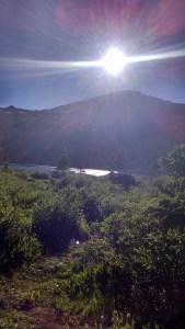Kroenke Lake, where we camped the night before summiting Mount Yale.