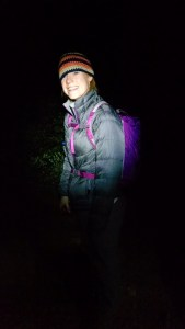 Starting our hike at 4 am.