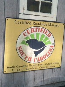 The Certified South Carolina Logo, identifying local in-state products.