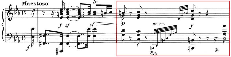 Beethoven op. 111 - 1. Satz - Takt 2
