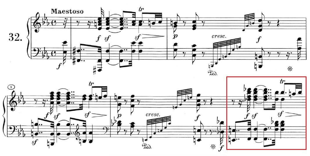 Beethoven op. 111 - 1. Satz - Takt 5