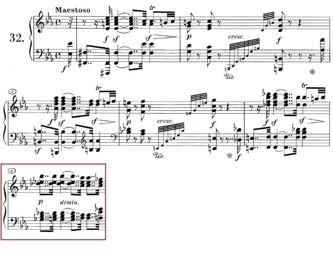 Beethoven op. 111 - 1. Satz - Takt 6