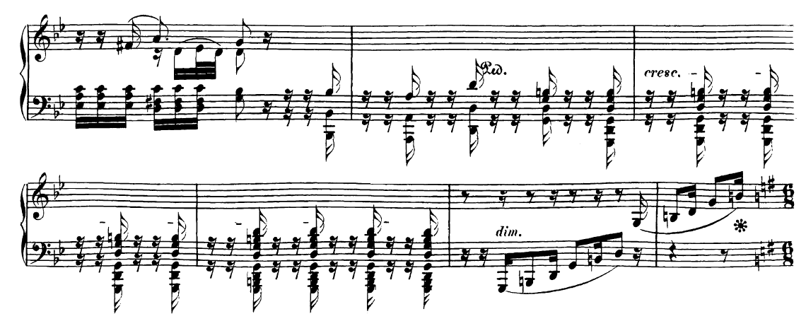 Ausschnitt aus Beethovens As-Dur-Sonate
