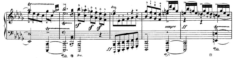 Tiefe Triller - Ausschnitt aus Beethovens 29. Sonate
