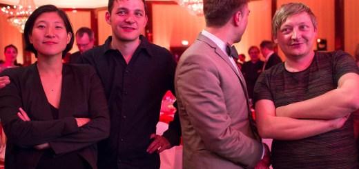 Die Gebrüder Teichmann mit Moritz Eggert. Foto: Hufner