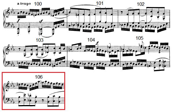 op. 111 – Eine Analyse in 335 Teilen – Takt 106