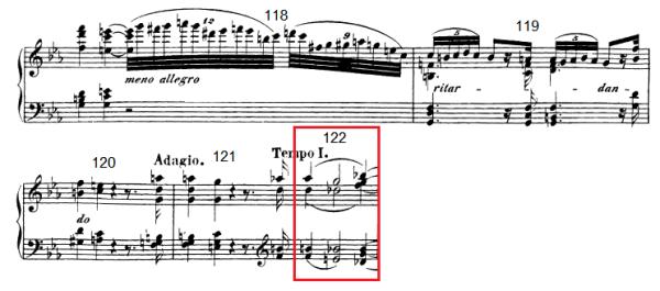 op. 111 – Eine Analyse in 335 Teilen – Takt 122 (Adventskalender, Türchen Nr. 13)