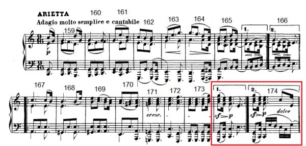 op. 111 – Eine Analyse in 335 Teilen – Takt 174 (Adventskalender, Türchen Nr. 8)