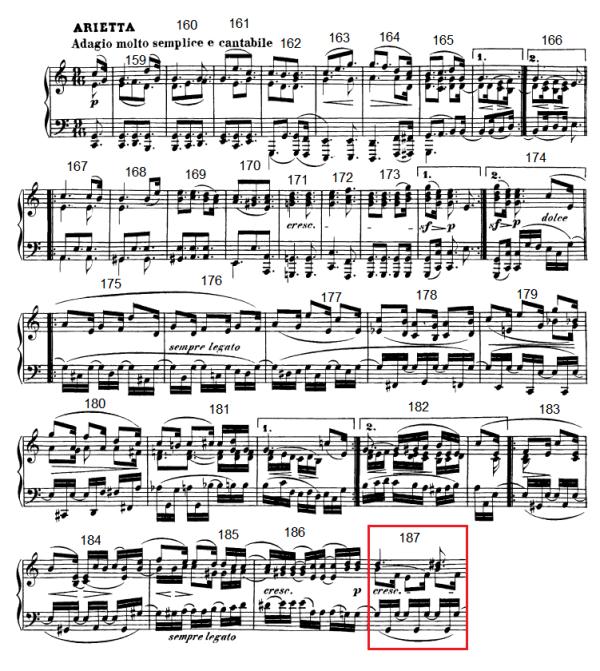 op. 111 – Eine Analyse in 335 Teilen – Takt 187 (Adventskalender, Türchen Nr. 21)