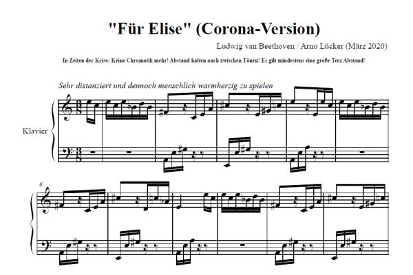 """""""Mindestens eine große Terz Abstand halten!"""" - Ludwig van Beethovens """"Für Elise"""" (Corona-Version)"""
