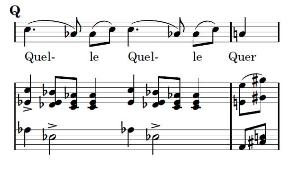 Die Winterreise in alphabetischer Reihenfolge - Buchstabe Q