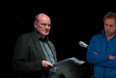 Peter Hagmann und Johannes Kreidler. Foto: Basche