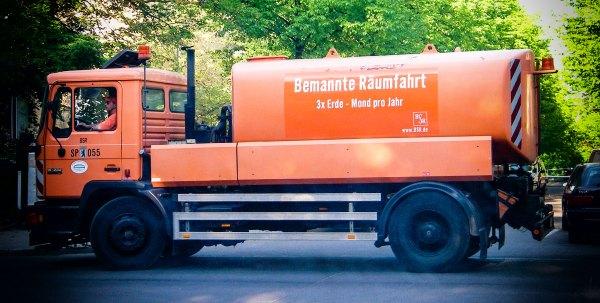 Bemannte Räumfahrt. Foto: Hufner