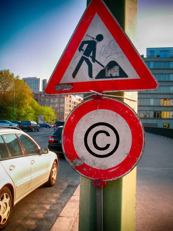 Baustelle Urheberrecht. Foto: Hufner