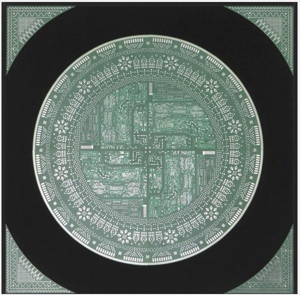 "Sarah Ciracì, ""Elettronica-Mente"", vetronile, copper, paint, 2008 (courtesy of the artist)"