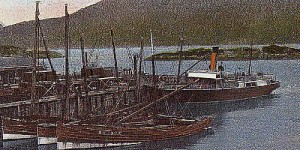 The steamship Sheila was launched Saturday, 30/01/1904 at A & J Inglis Pointhouse Glasgow and completed in 1904. She was wrecked when the vessel ran ashore in darkness in Cuaig Bay just south of the mouth of Loch Torridon, 1 January 1927.