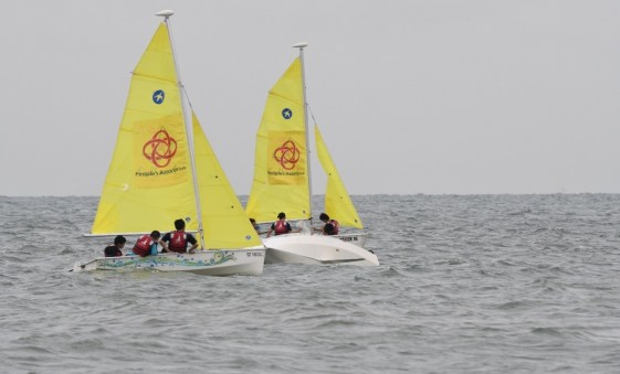 A typical sailing session.