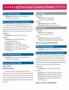 VA Elections Schedule
