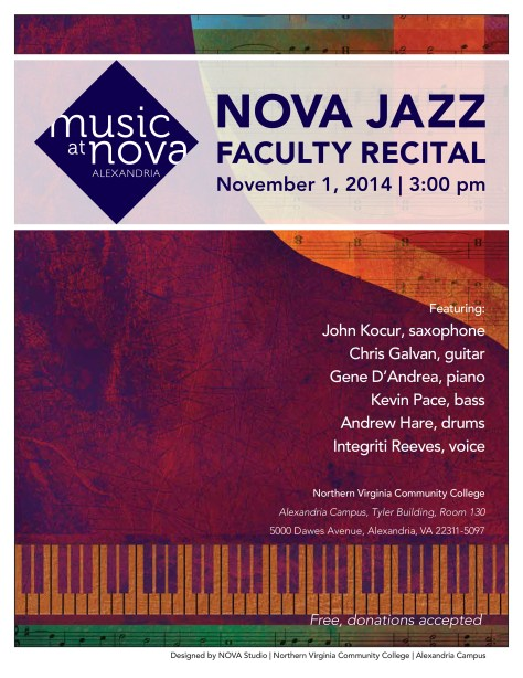 NOVA Jazz Faculty Recital 2014