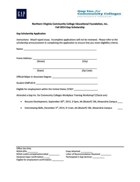 Gap Scholarship Announcement  Application (2)-page-1