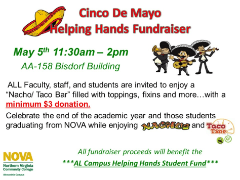 Cinco de Mayo Helping Hands Fundraiser -Tuesday, 5 May 2015