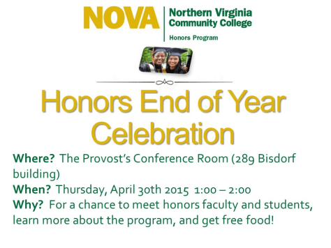 Honors End-of-Year Celebration