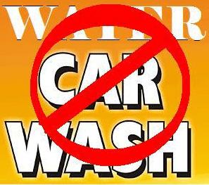No Car washing