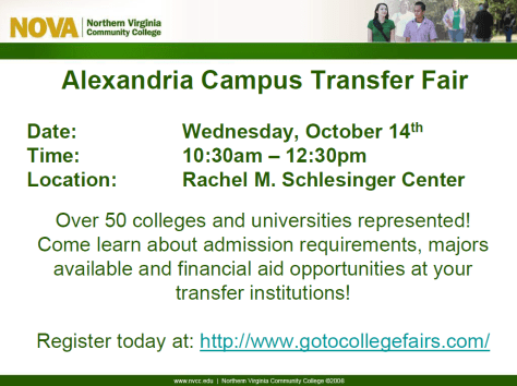 Alexandria Campus Transfer Fair