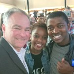 Juliet Nkululeko and Tim Kaine