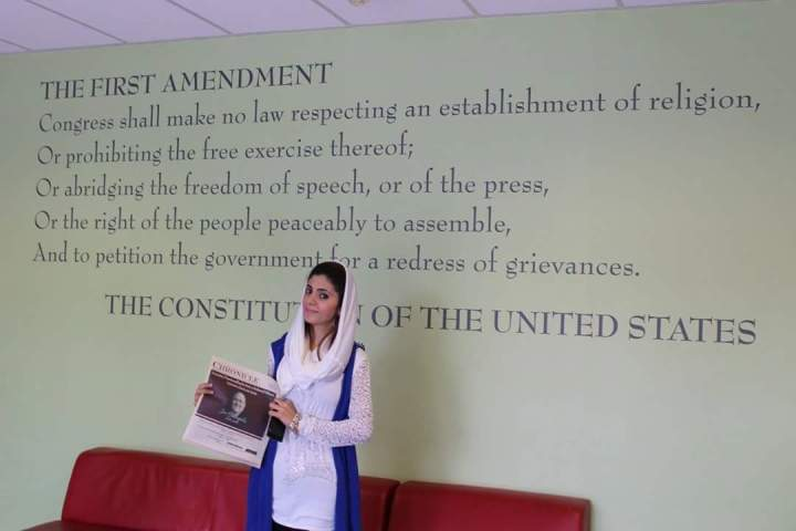 Tayyaba with Publication