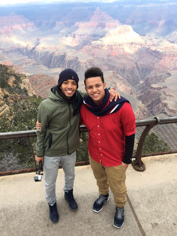 Andres and Akram at Grand Canyon
