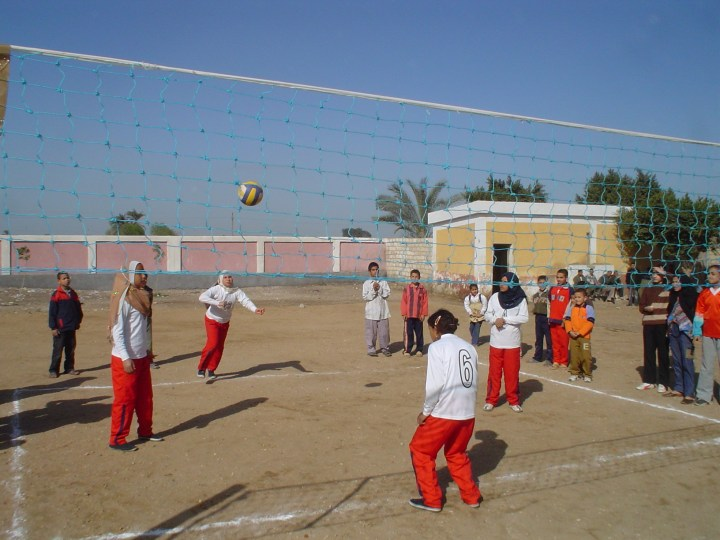 Egyptian girls playing sports