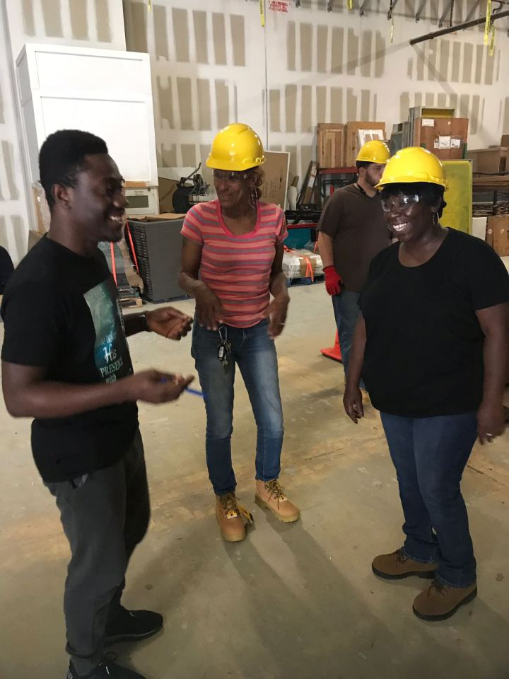 Kwame talks with CTP students