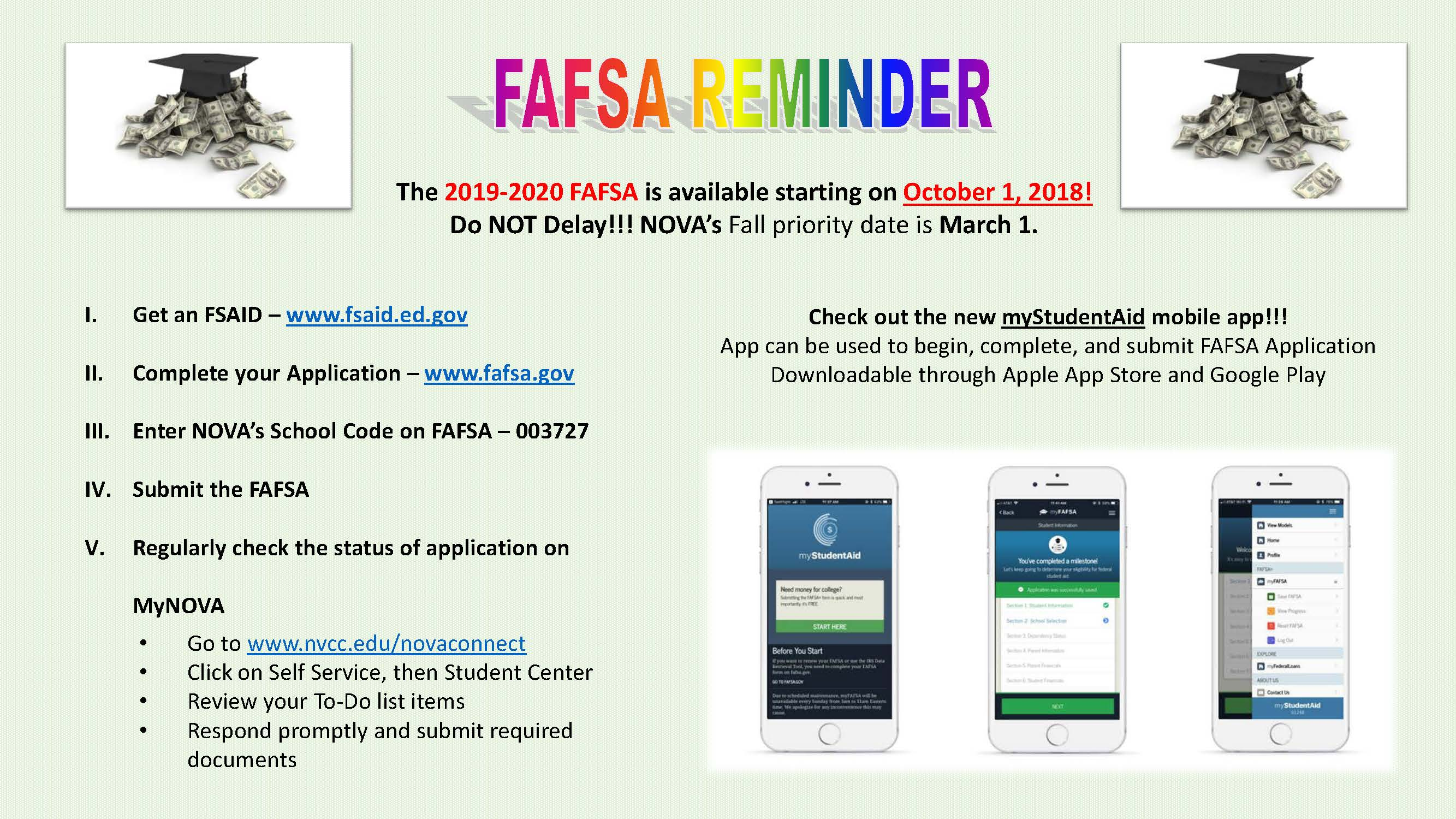 Submit The Fafsa Beginning October 1
