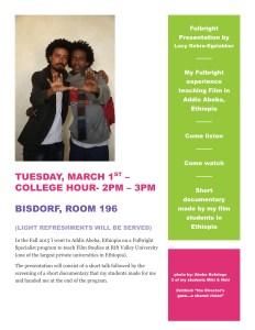 Fulbright presentation flyer
