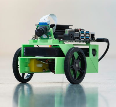 JetBot powered by Jetson Nano 2GB.