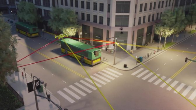 A digital twin city where Ericsson can study 5G wave propagation in real time.