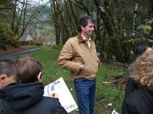 Joseph O'Neil leading an education program at Oregon Hatchery Research Center
