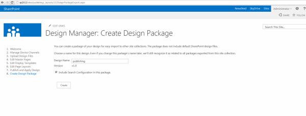 Create Design package