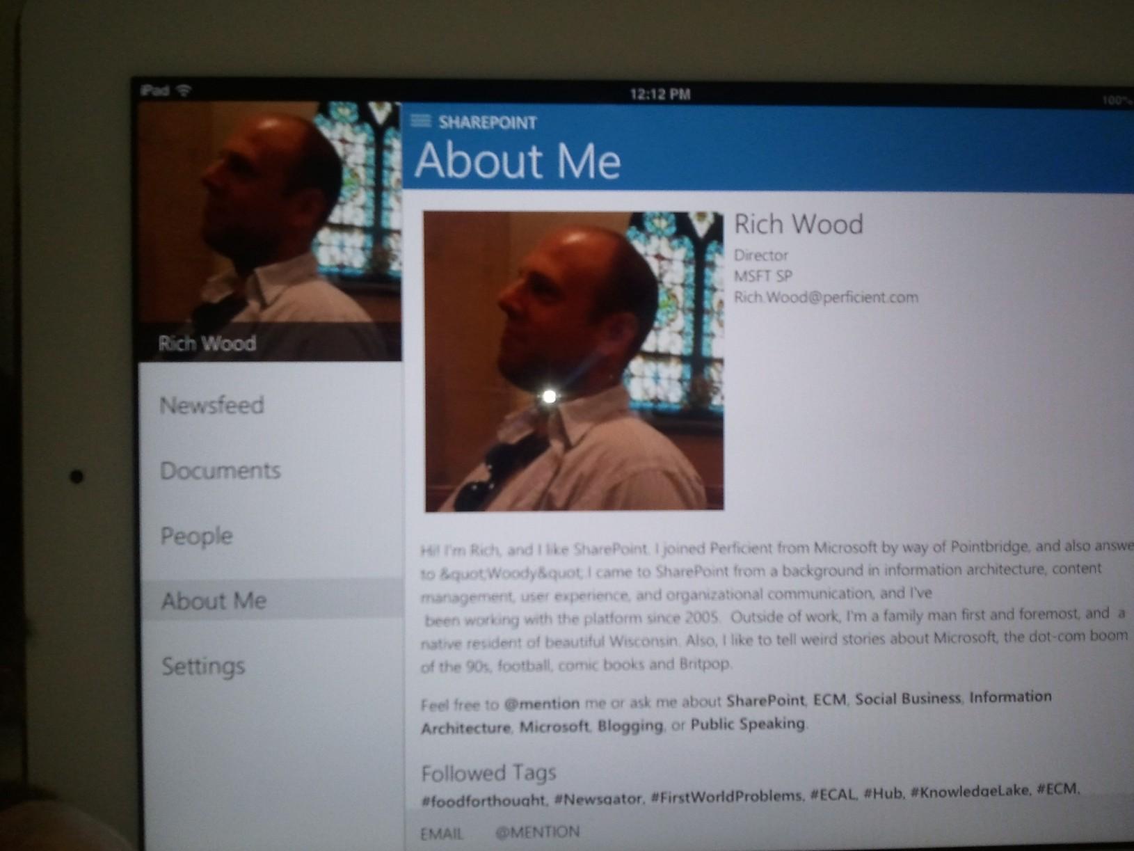 Sharepoint 2013 Social Newsfeed is now an iOS App!