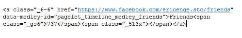 Facebook Friends Link Source Code