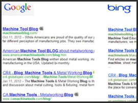 Google Bing Search Result Comparison