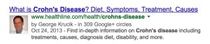 Chron's disease google authorship result