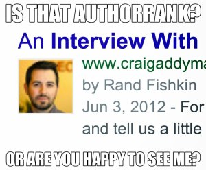 Is that AuthorRank or are you just happy to see me?