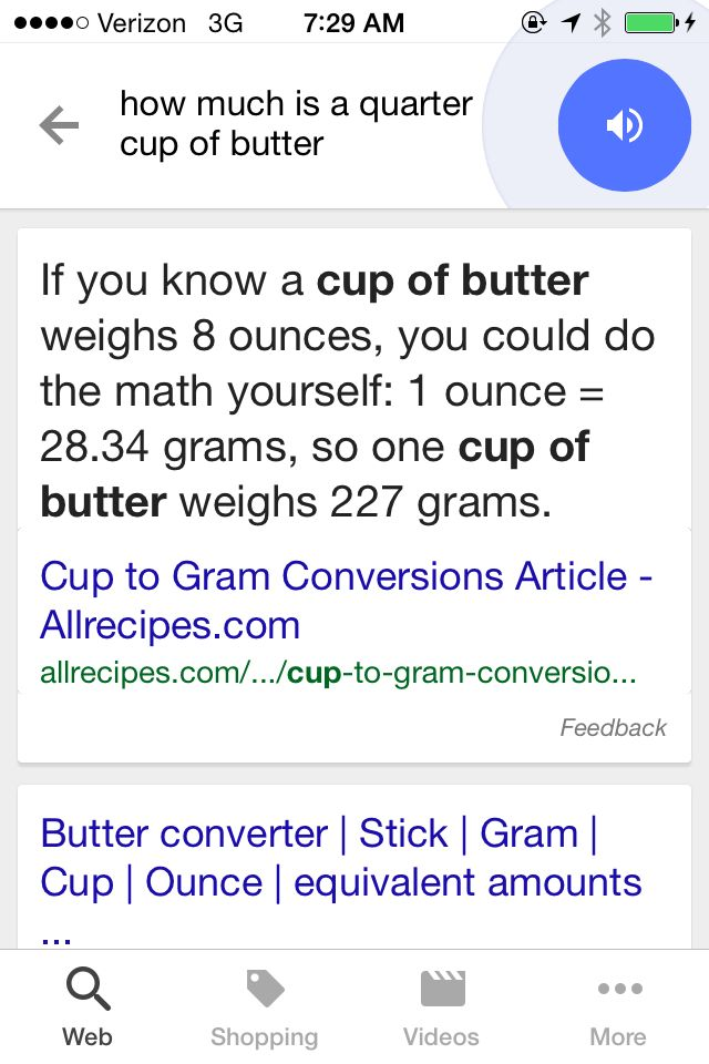 How Much is a Quarter Cup of Butter