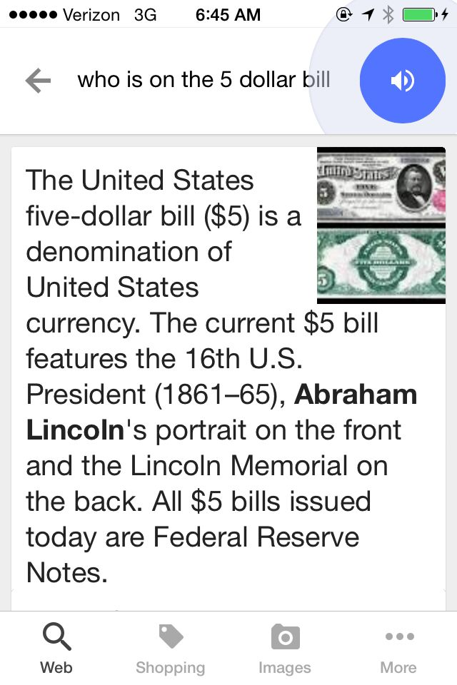 Who is on the Five Dollar Bill?