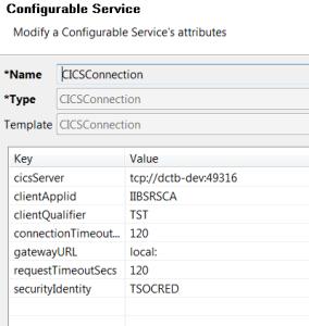 CICS Configurable Service
