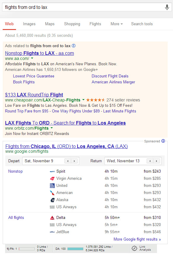 knowledge graph - book your flight